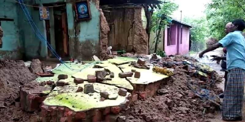 158 houses destroyed due to rain in thiruvarur