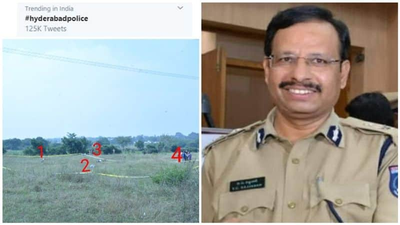 hydrabadpolice is viral in twitter and aall supports to  hydrabad  police encounter