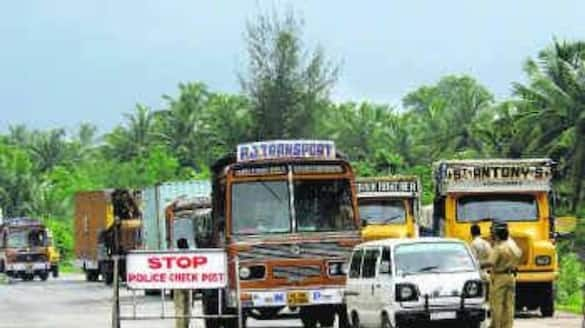 Inter District Border Closed in Koppal Due to Lockdown grg