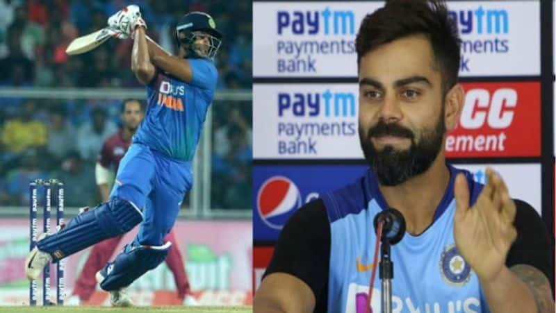 indian skipper virat kohli reveals why sent shivam dube in one down