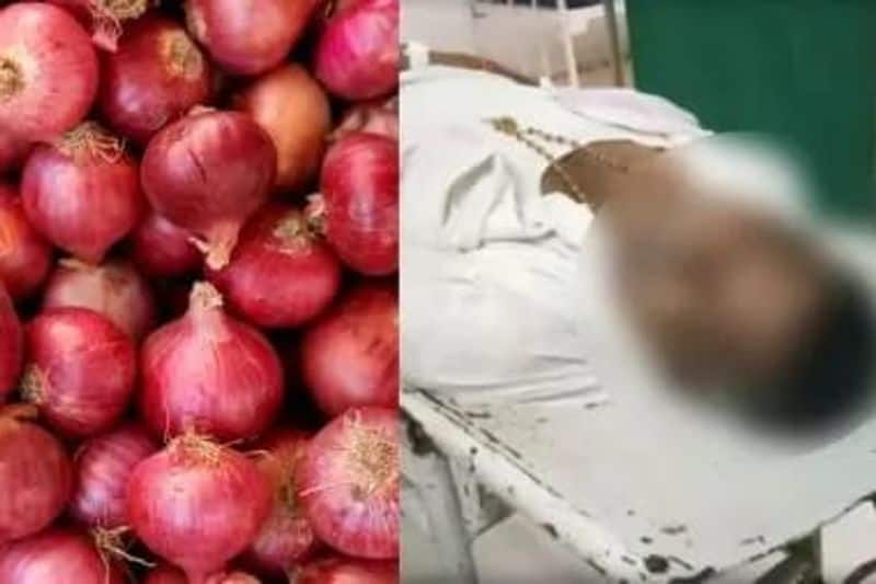 a person died at Andhrapradesh when he waiting at long row for buy onion