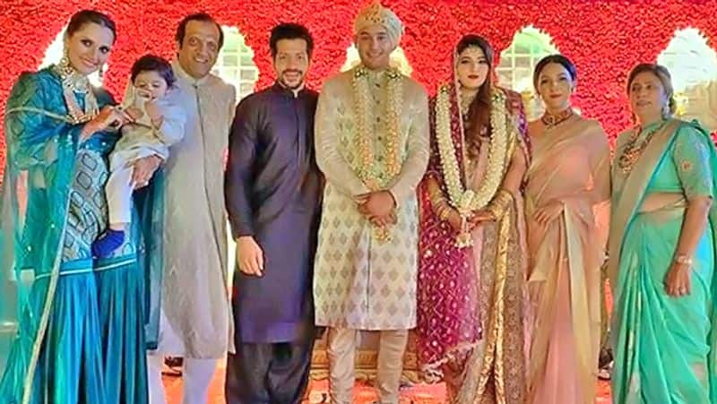 Azharuddin's son and Sania Mirza's younger sister tied the knot