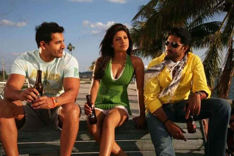 Formerly, Abhishek, Aishwarya and Saif were said to play the lead roles in Dostana. Aishwarya rejected it due to her busy schedule and Priyanka Chopra took up the role. The fact that the movie was about two male leads, did not not appeal to Saif, who dropped out later.