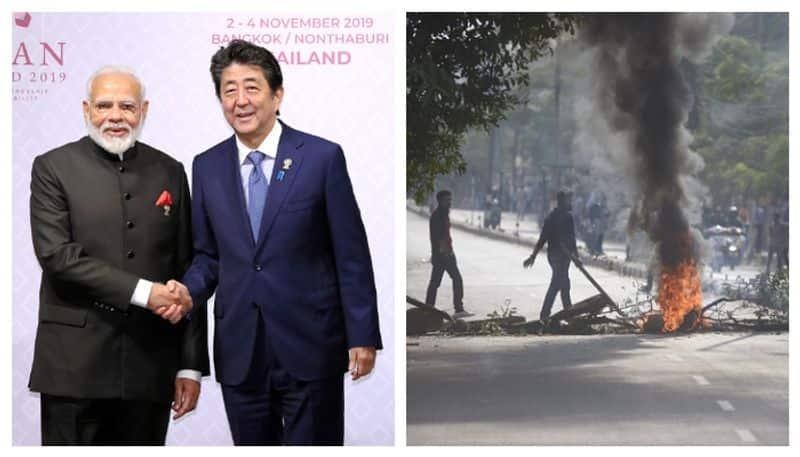 Japanese prime minister Shinjo Abe has postponed his trip to India