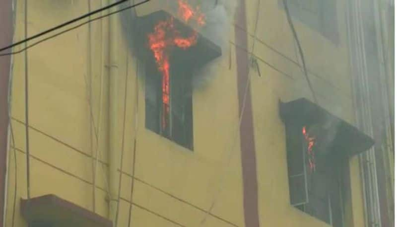 Massive fire at a building in Salt Lake Sector five