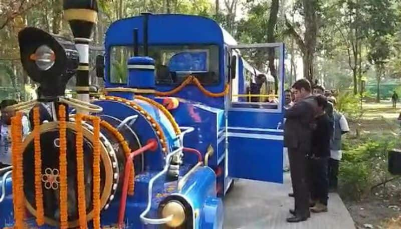 Trackless toy train service started in Bengal Safari Park