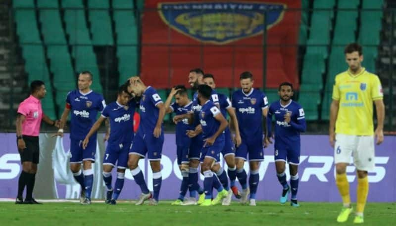 <p>The opening half saw twin attacks from Chennaiyin until the 22nd minute. Meanwhile, eight minutes later, SCEB's Ajay Chhetri picked up his second yellow card of the game, as he was sent off.</p>