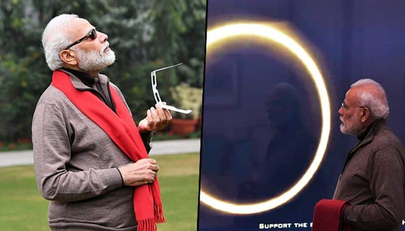 PM Modi fails to witness solar eclipse, but catches glimpse of it through live stream from Kerala