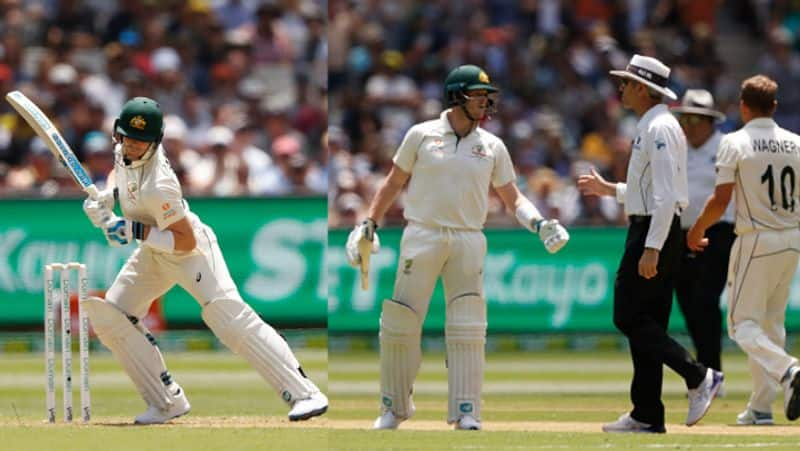 steve smith argues with umpire nigel llong over dead ball rule in boxing day test