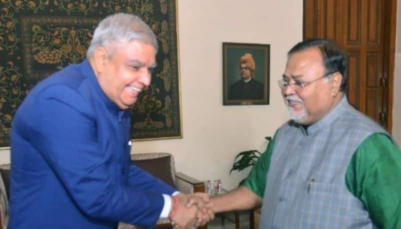 Education Minister Partha Chatterjee meets Governor Jagdeep Dhankar in Rajbhaban