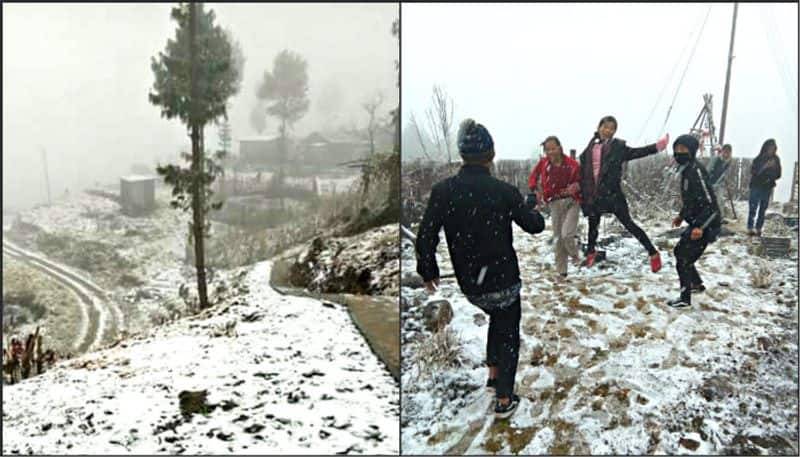 Nagaland village experiences snow after 37 years