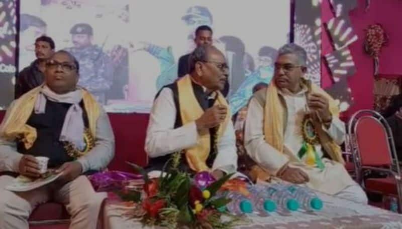 BJP MP and TMC MLA in the same stage
