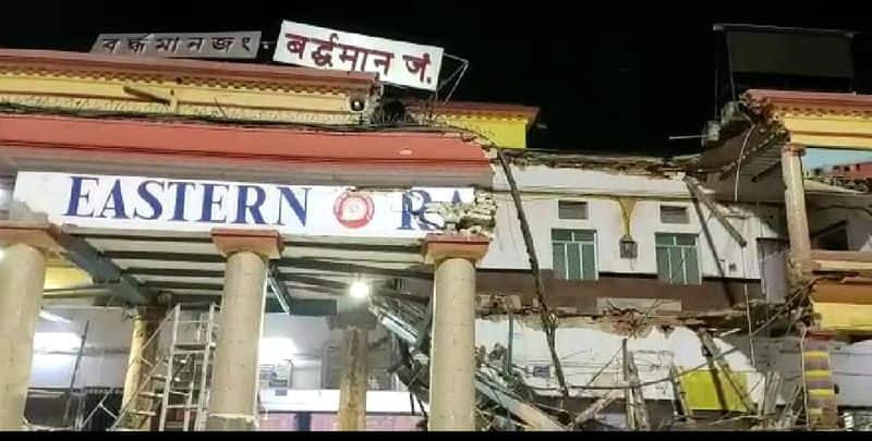 Two people are injured in burdwan station collapsed