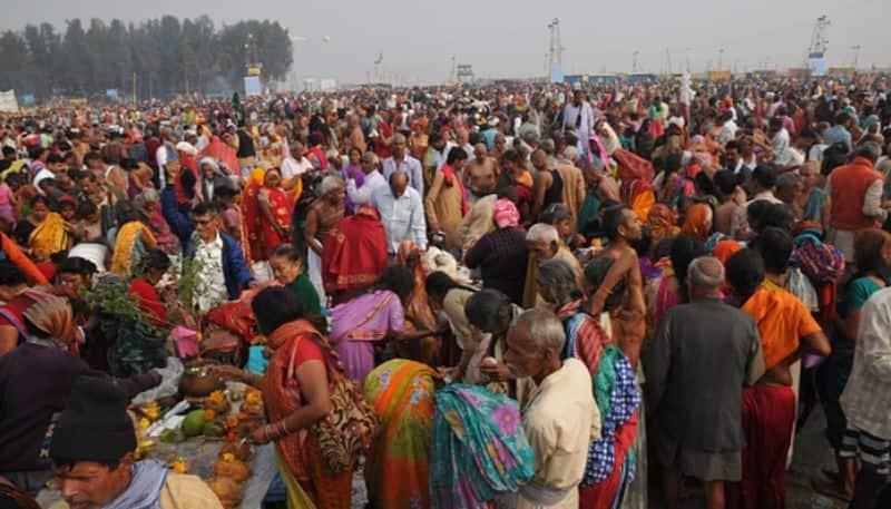 Preparations for the Last moment of Traditional Hindu festival Gangasagar Mela 2020
