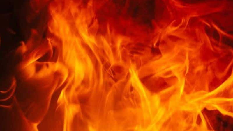 fire outbreak in a super market at karunagappaly