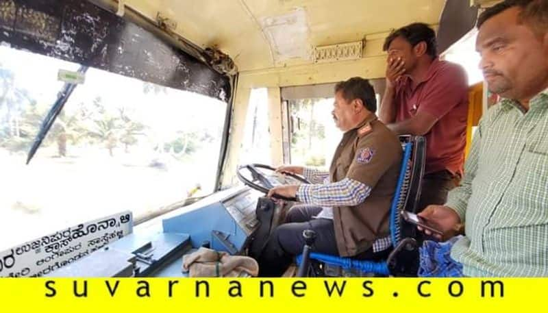 KSRTC Officials Gets Notice Who Gave Permission Allowed Honnali BJP MLA MP Renukacharya To Drive Bus