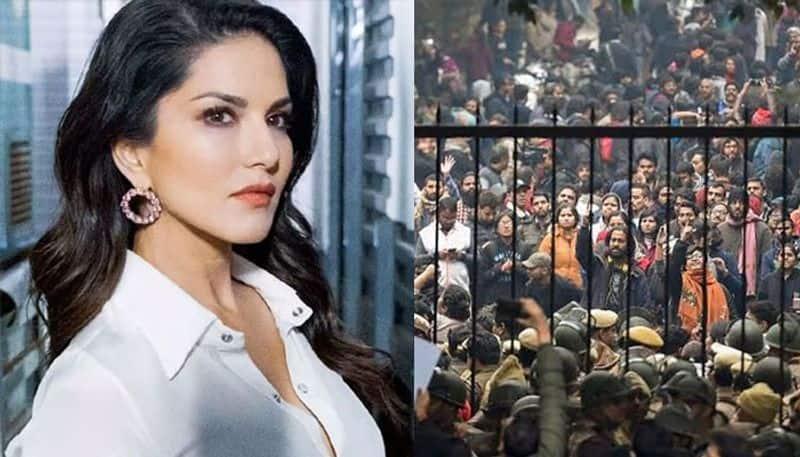 After Deepika Padukone, Sonakshi Sinha, now Sunny Leone reacts on JNU violence