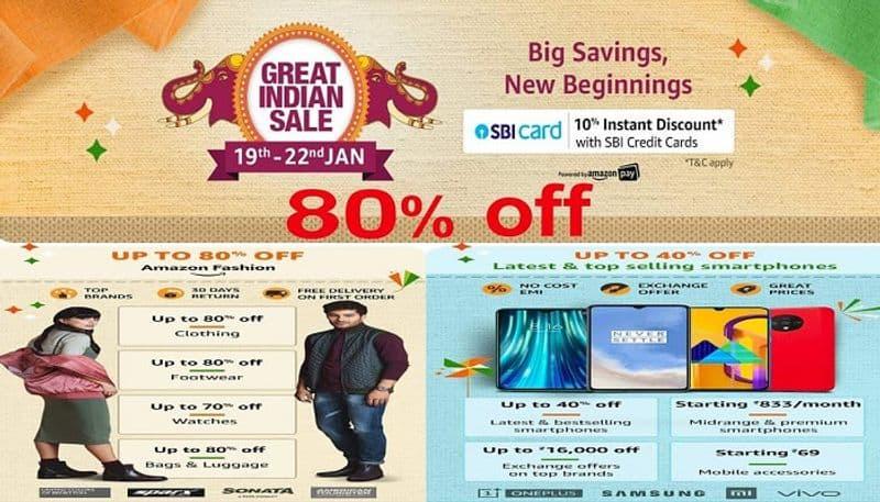 amazon great indian sale 2020 offers discounts cashbacks on smart phones