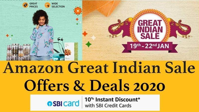 amazon announces great indian sale 2020 for sankranthi