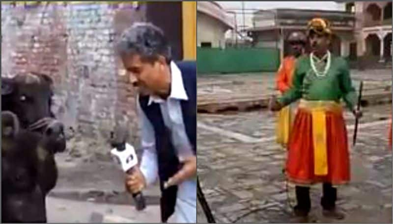 Pakistani journalist dressed as an emperor while reporting, Video goes viral