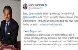 anand mahindra tweeted to satya nadella