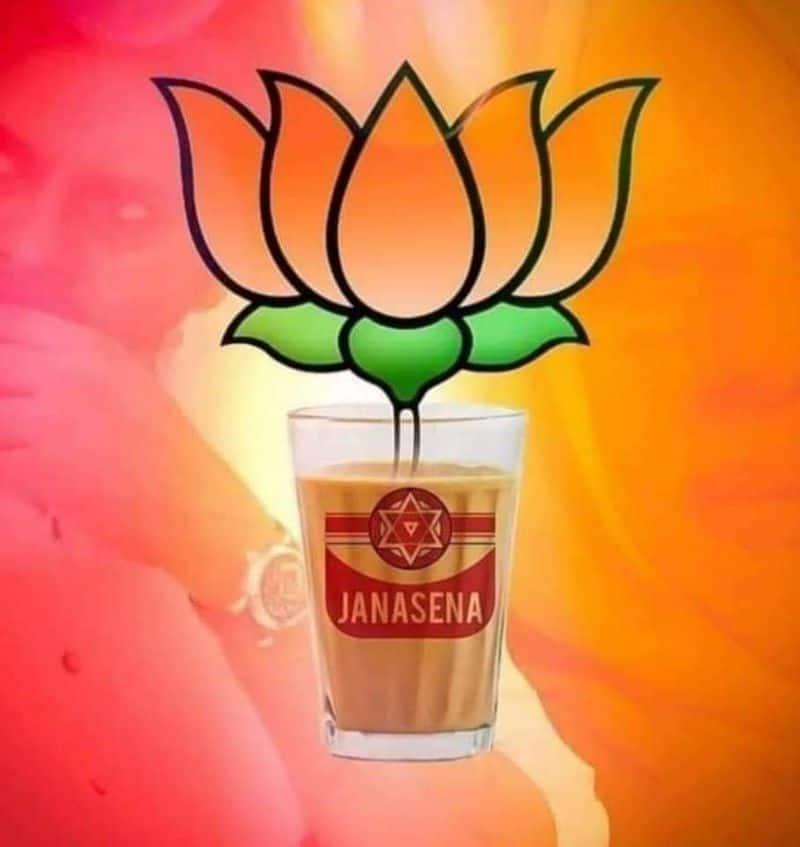 pawan kalyan alliance with BJP, social media flooded with trolls