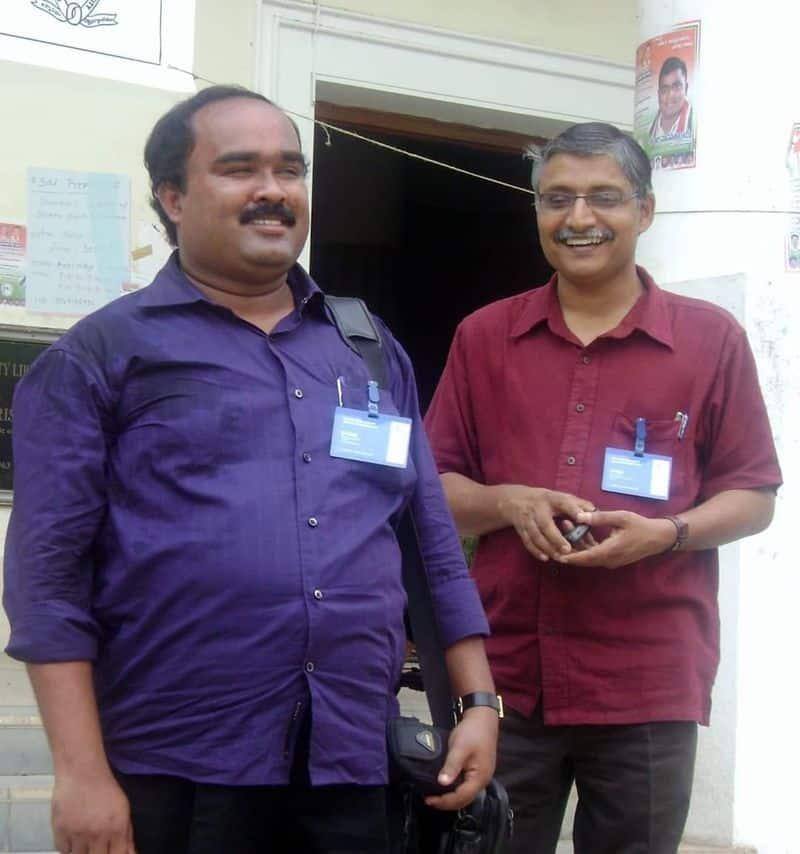 ka shaji pays tribute to senior journalist dr.iv babu