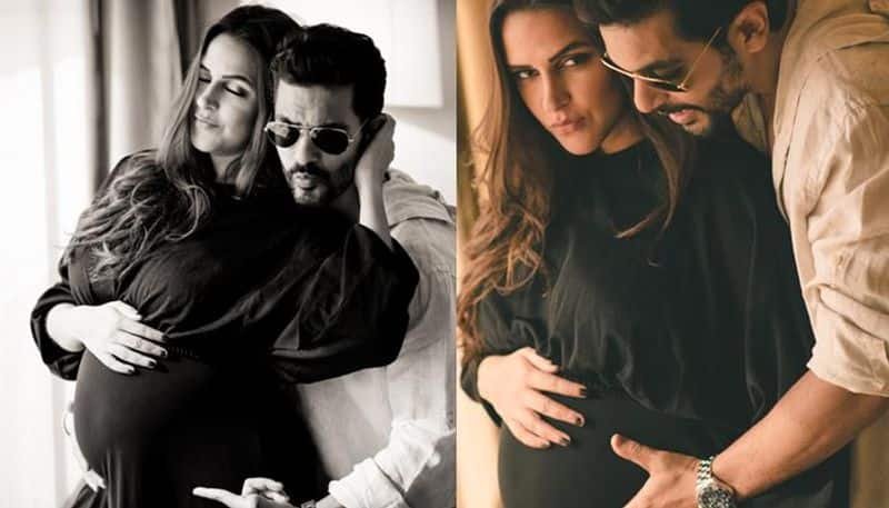 """Neha Dhupia: Angad Bedi and Neha Dhupia took to social media to announce that they got married, which came as a surprise. Later Angad Bedi, revealed on Neha's chat show that she was pregnant before they married. He also said that he was scolded by Neha's parents when broke the news to them. """"I said, 'You know what? We're gonna have a baby.' There was silence, bahut jhaad padi (they scolded me a lot). I don't think they were really prepared to hear the news that you were expecting,"""" he said."""