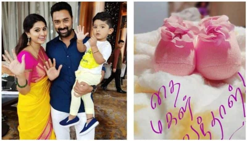 Sneha and prasanna with a different name for her baby