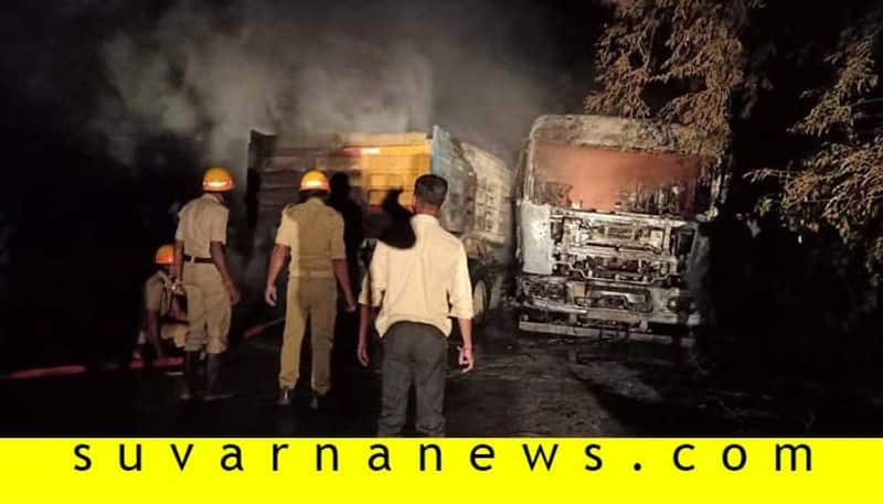 Truck Tipper Accident in Dharwad