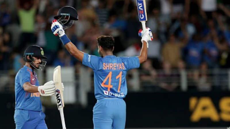shreyas iyer scores his maiden century in odi against new zealand