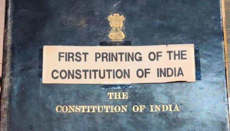 the press printing first copy of indian constitution sold for scrap value