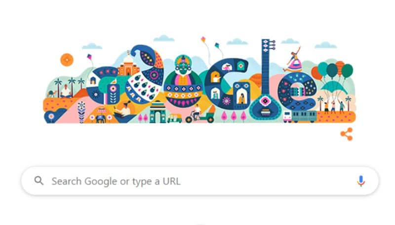 Google Doodle Greetings on the 71st Republic Day of India