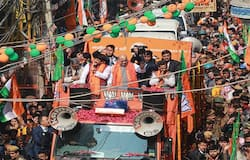 Delhi Election Amit Shah's Roadshow in Ghonda Assembly kps
