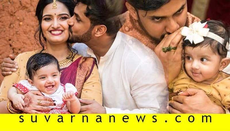 Actor Chethan chandra daughter naming ceremony in Shivamogga