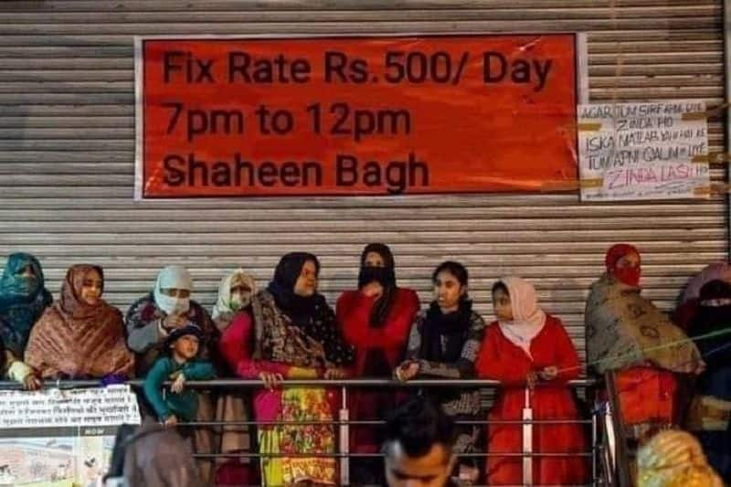 Fact check shaheen bagh protest wrongly claims protesters paid Rs 500 per day