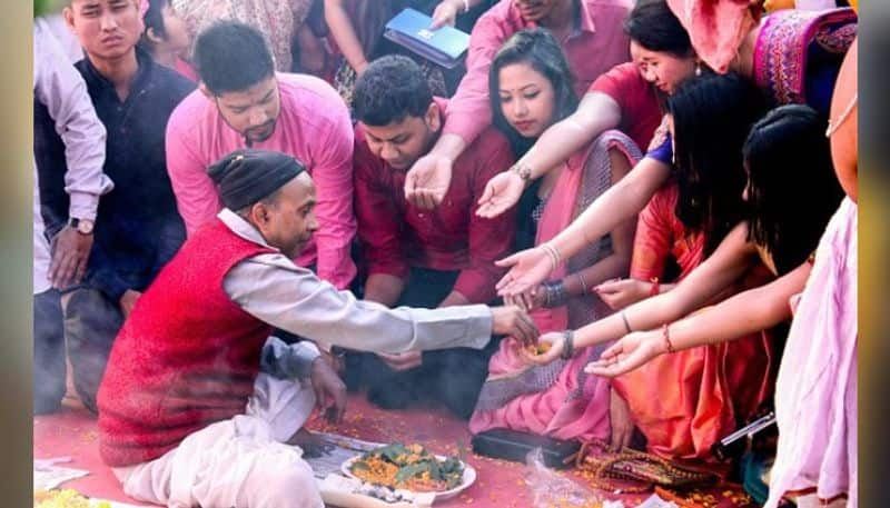 youth able to celebrate saraswati puja for clear sky