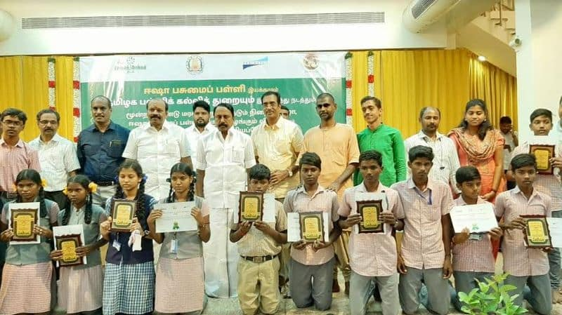 minister senkottaiyan appreciated students for growing tree