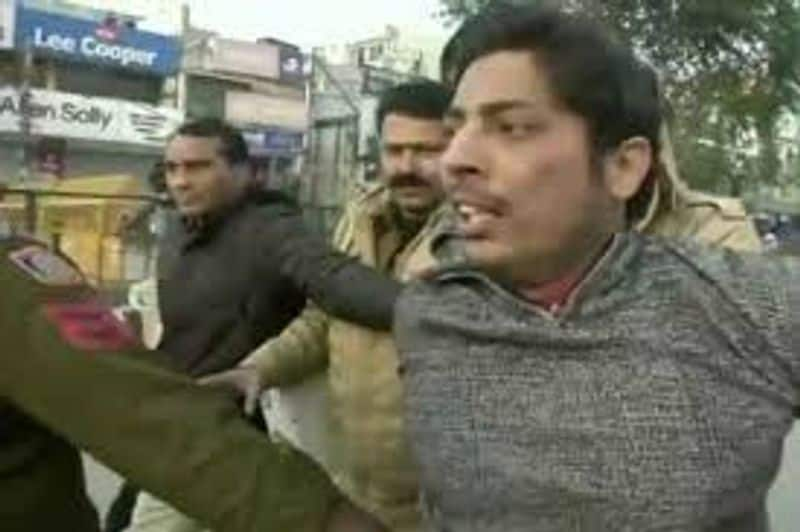 Aam Aadmi Party worker turned out to be Kapil Gujjar