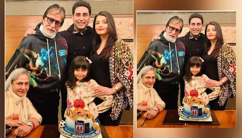 Abhishek Bachchan kick-started his 44th birthday celebrations along with his family. On the special day, wife Aishwarya Rai Bachchan shared some adorable pictures on social media.