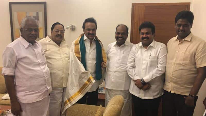 DMK MLA Rajendran joins hands with contractor sekar reddy