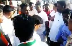 amil Nadu BJP members gathered at Neyveli Lignite Corporation (NLC) in Tamil Nadu on Friday. Tamil star Vijay, who recently faced I-T raids at his residences in Chennai, has been shooting there for his upcoming film Master.