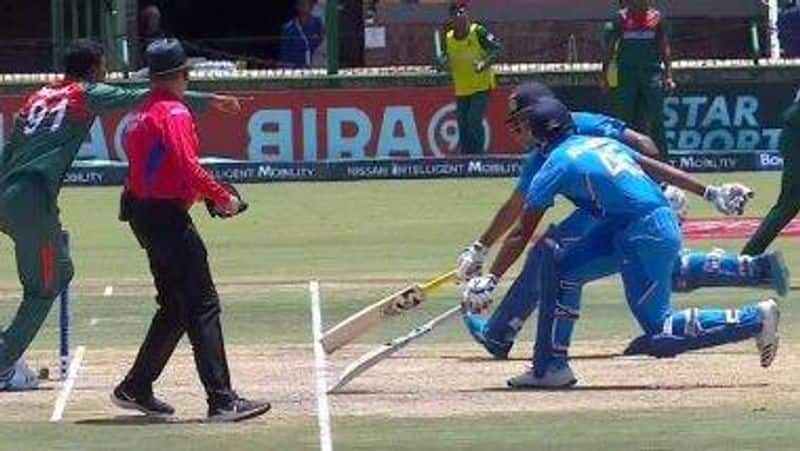indian players confuse third umpire to make decision on run out in u19 world cup final