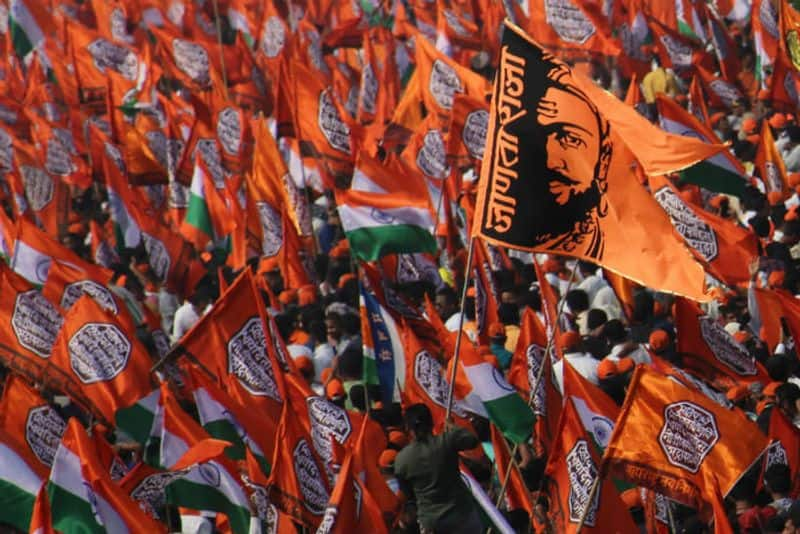 Supporters of Maharashtra Navnirman Sena (MNS) party attend a rally in support of the Citizen Amendment Act (CAA) in Mumbai, India on 09 February 2020. (Photo by Himanshu Bhatt/NurPhoto via Getty Images)