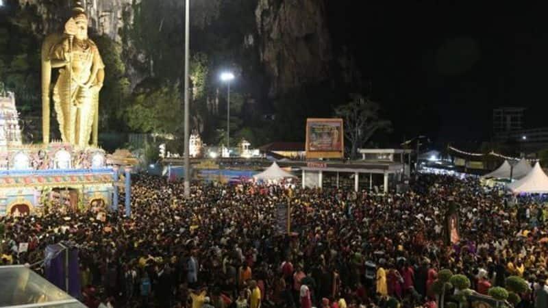 Thaipoosam celebrated in Singapore Murugan temple