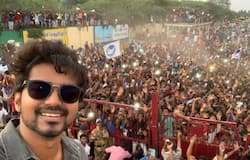 Selfie of the decade is this picture with fans taken on February 9, 2020 at Tamil Nadu's Neyveli where he is shooting for his upcoming film Master. This comes soon after the I-T raids that took place at his residence in Chennai. #ThalapathyVIJAYselfie is one of the top trends on Twitter.