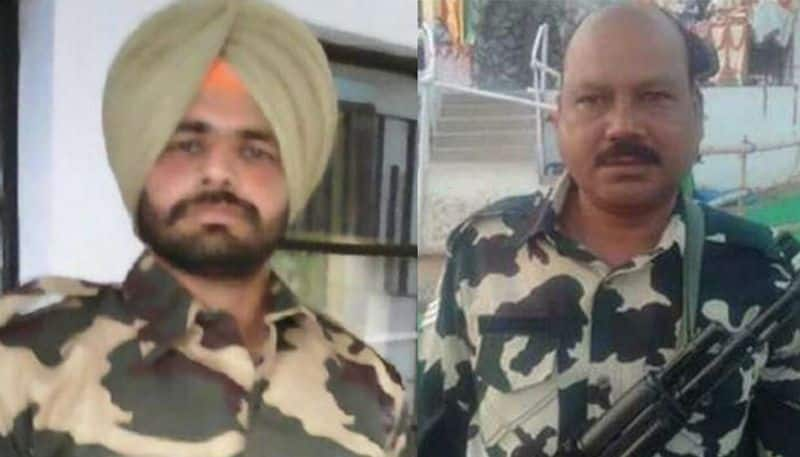 Left: Constable Kulwinder Singh - 92 BN (Punjab); Right: Head Constable PK Sahoo - 61 BN (Odisha)