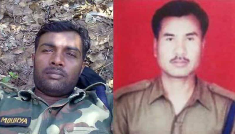 Left: Constable Vijay Kumar Mourya - 92 BN (U.P); Right: Head Constable Maneswar Basumatari - 98 BN (Assam)