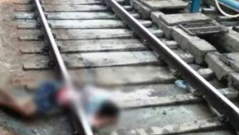 Suicide by jumping in front of train