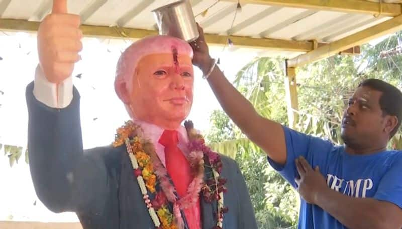 'Donald Trump appeared in my dream', says Telangana man who worships his statue